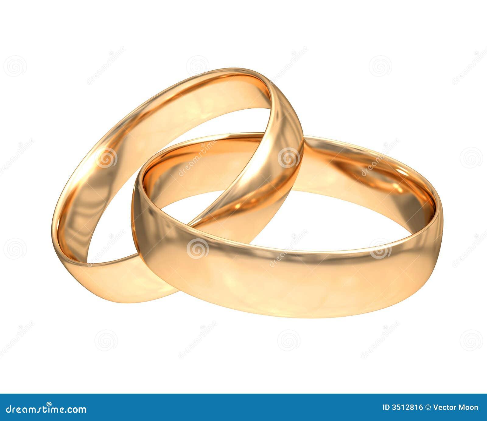 Wedding Gold Rings On White Royalty Free Stock Image