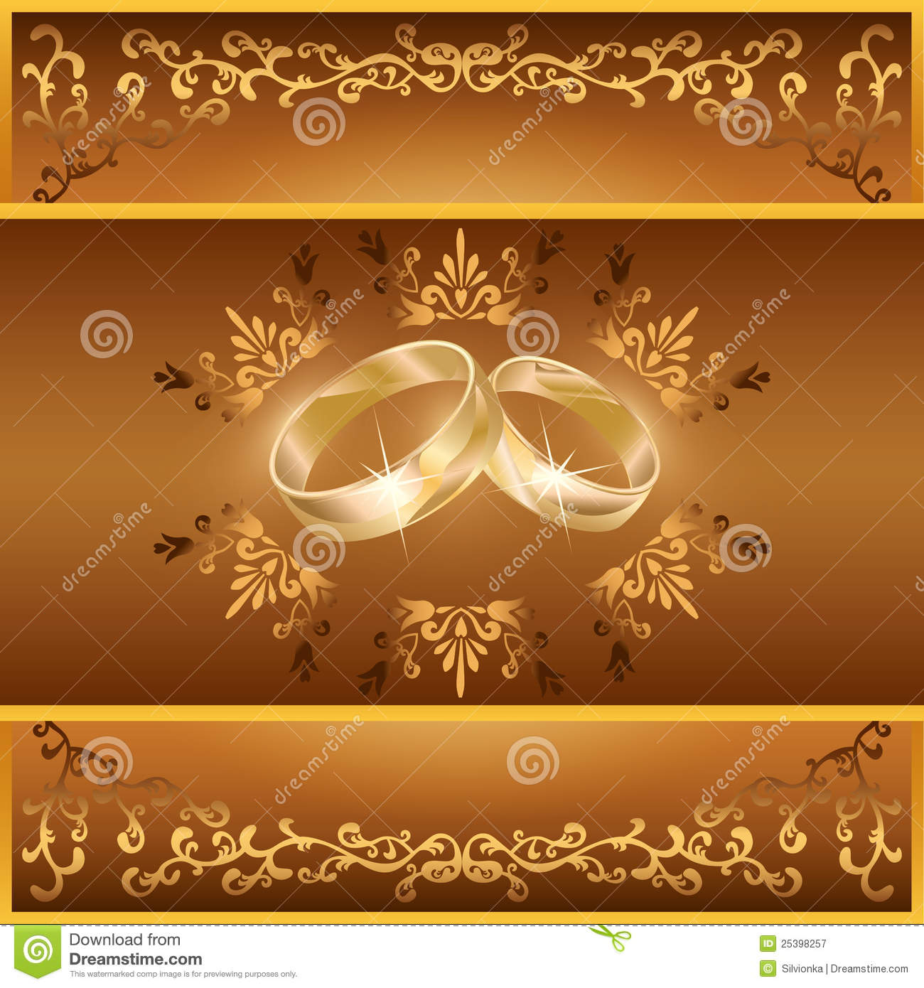 Wedding greeting or invitation card with rings stock vector wedding greeting or invitation card with rings stopboris Image collections