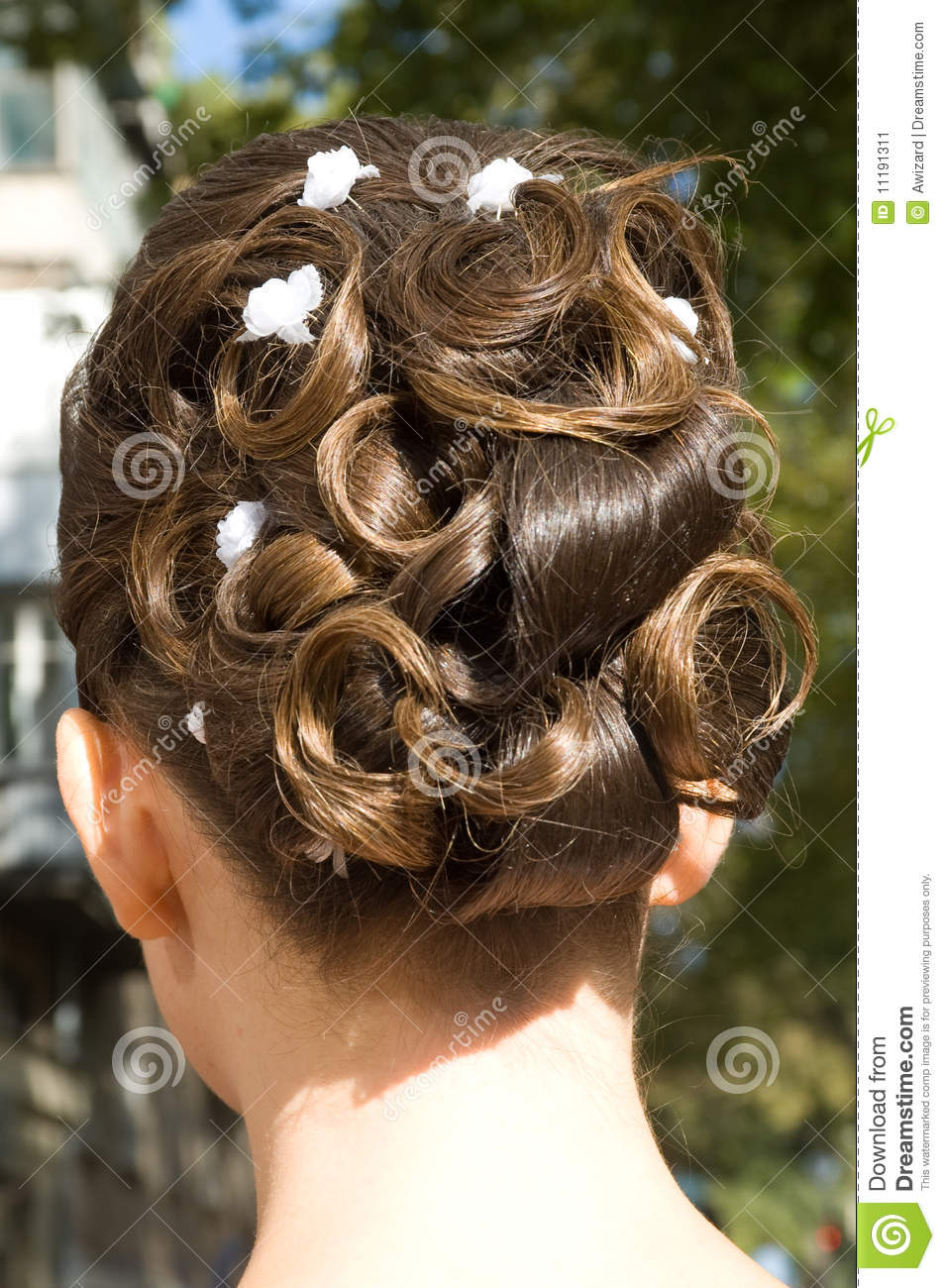 how to style hair for wedding wedding hair style stock image image 11191311 2953