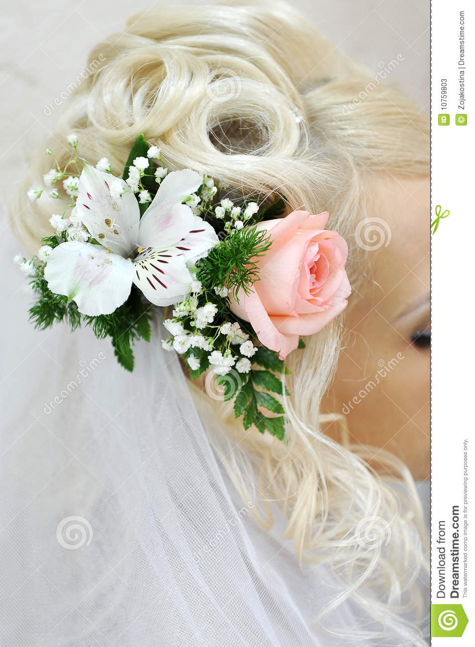 Great Beautiful wedding hairstyle with flowers and bridal veil. 955 x 1300 · 151 kB · jpeg
