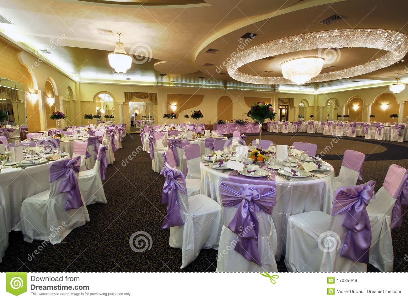 Wedding Hall Stock Image Image Of Elegant Banquet