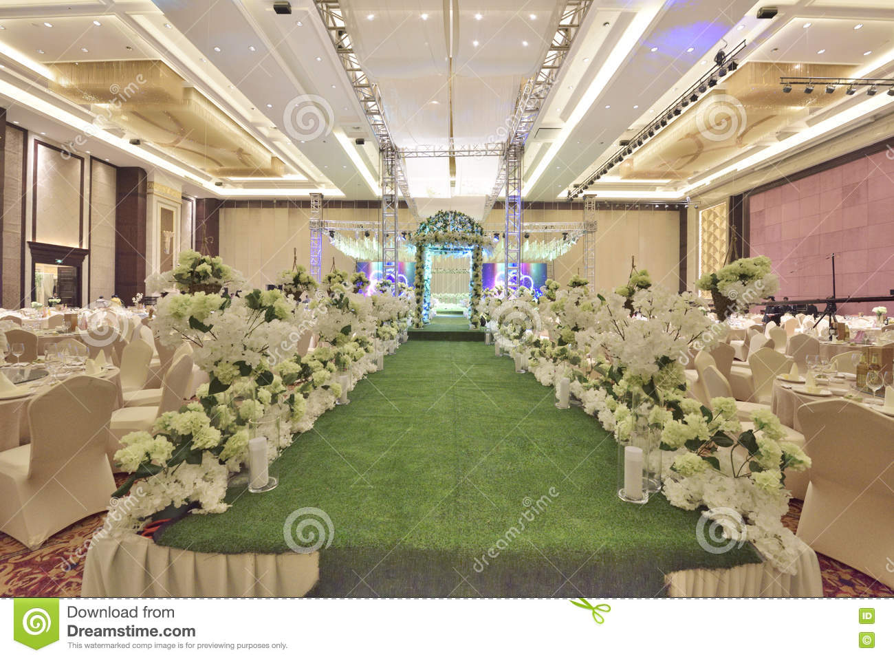 The Wedding Hall Stock Photo Image Of Decoration