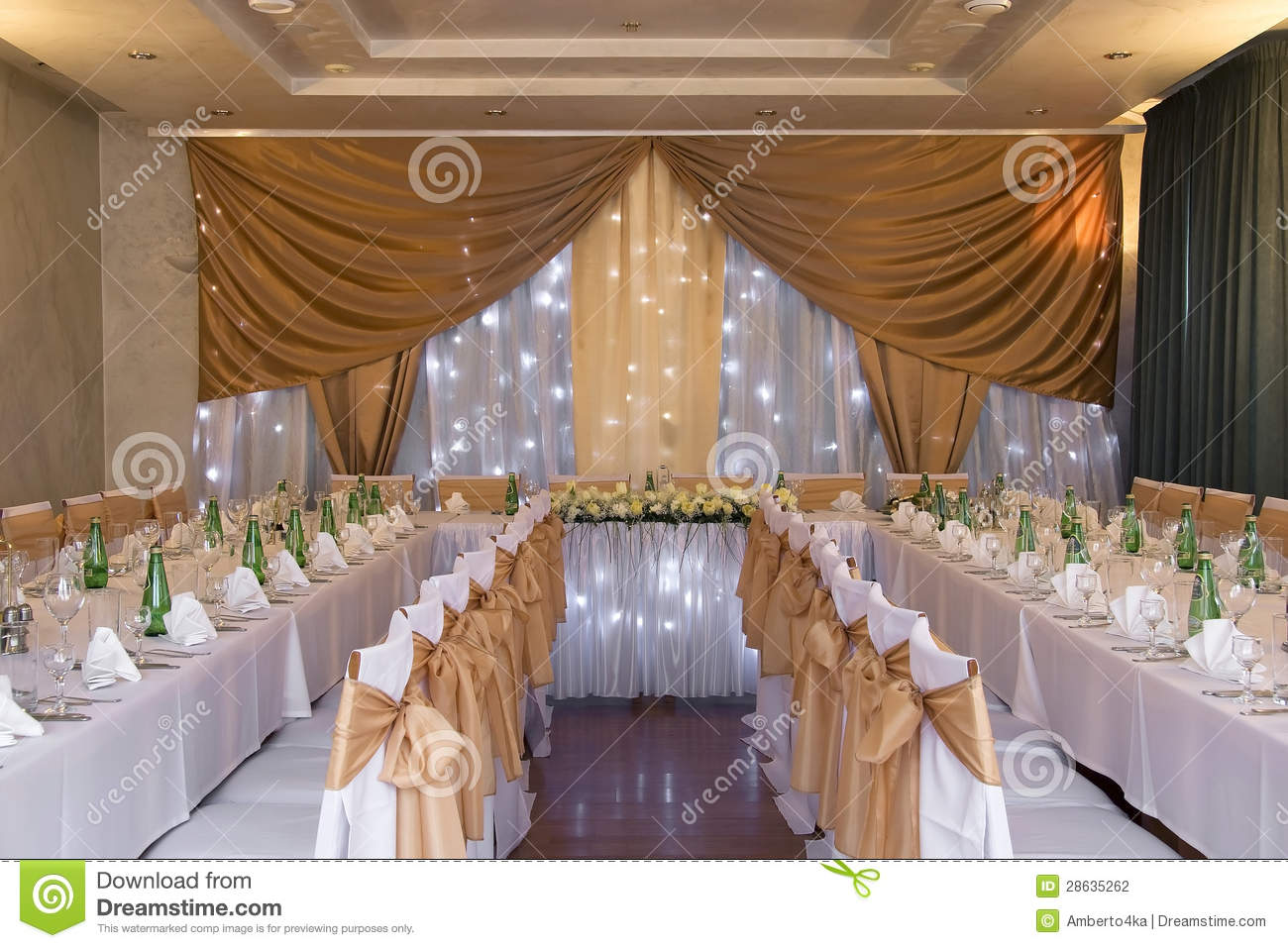 Wedding hall with decoration stock photography image for Decoration hall