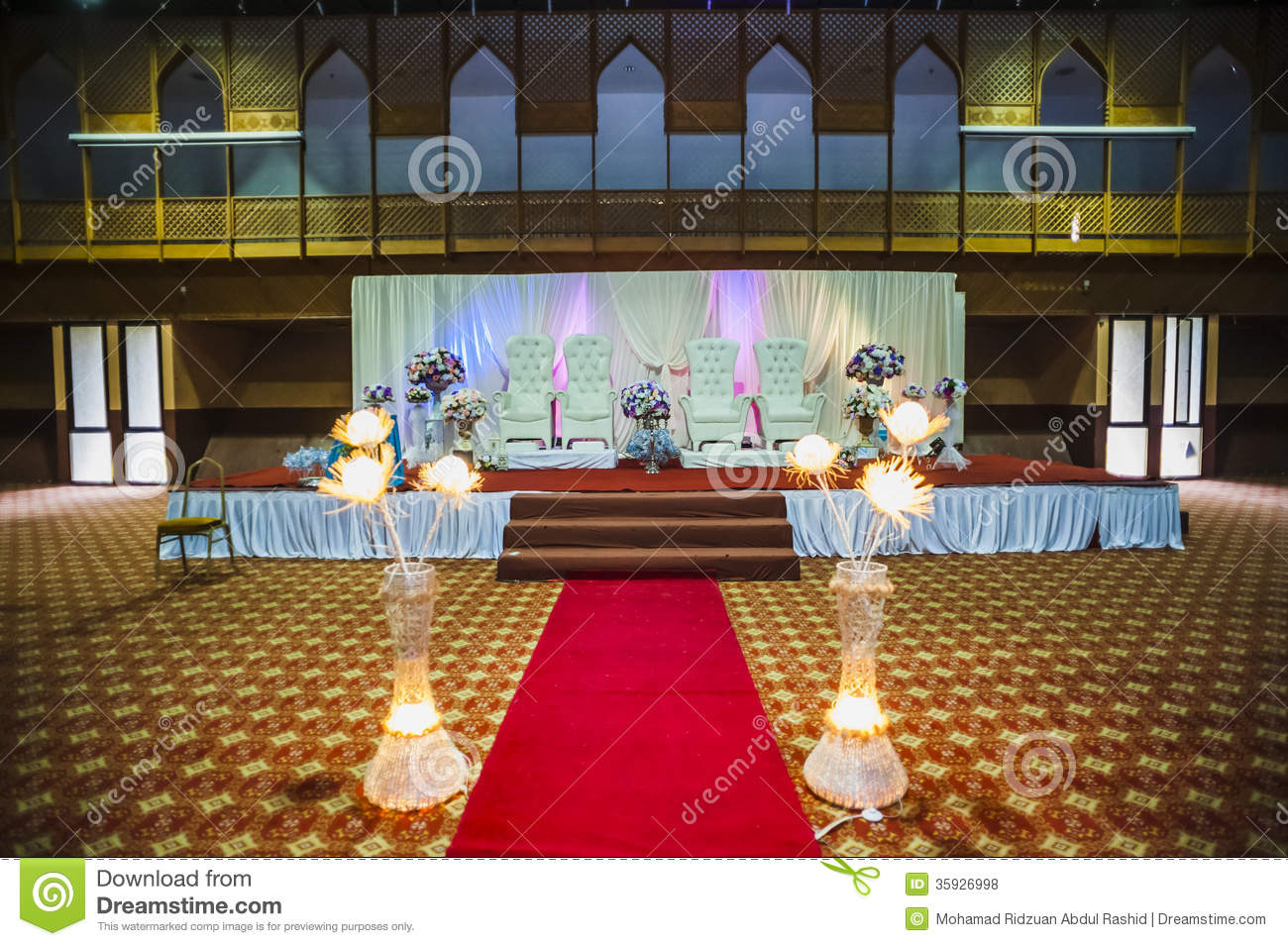 Wedding hall decoration stock photo image of decoration for Hall decoration pictures