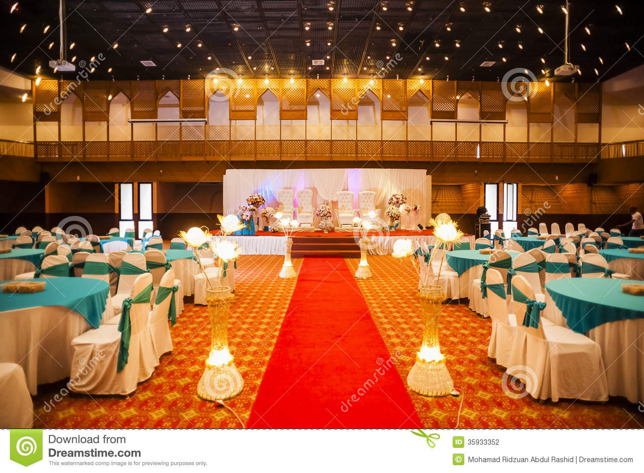 Wedding hall decoration stock photography image 35933352 for Decoration hall