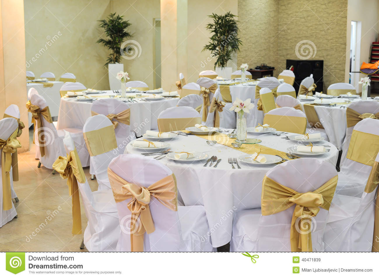 Wedding Hall Setup Stock Image