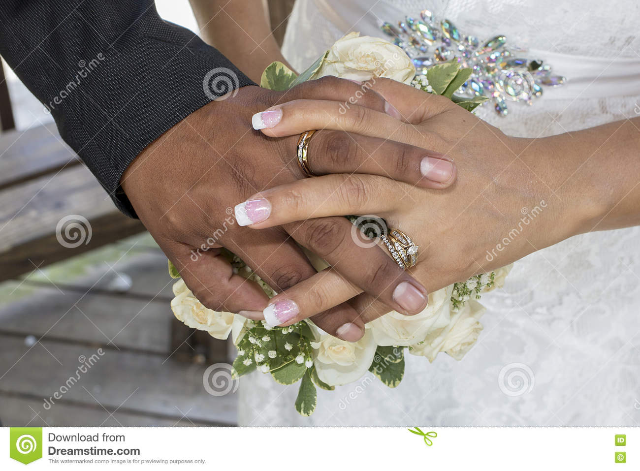 Wedding Hands And Wedding Rings