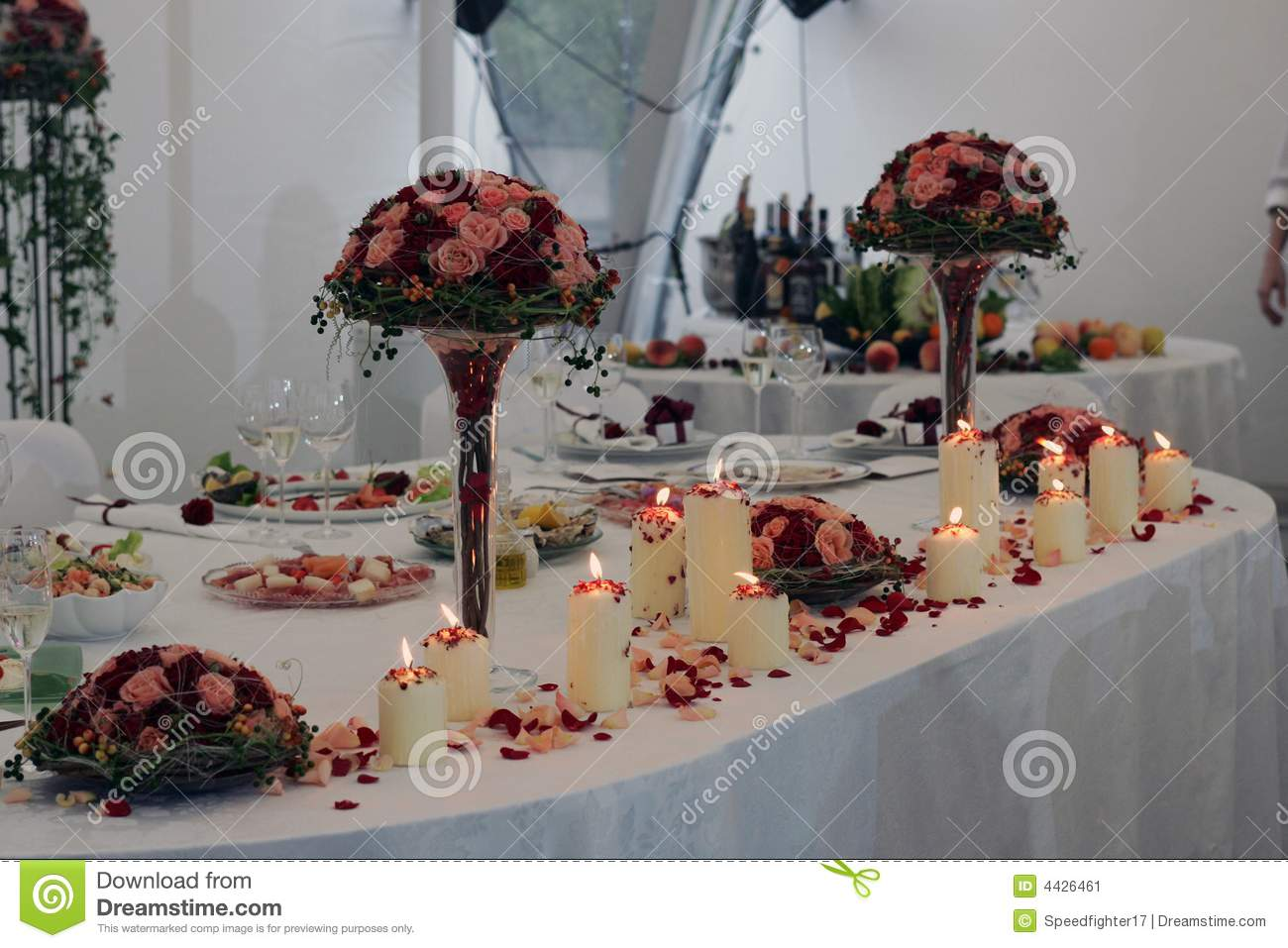 Wedding Head Table Stock Image Image Of Flowers Marriage
