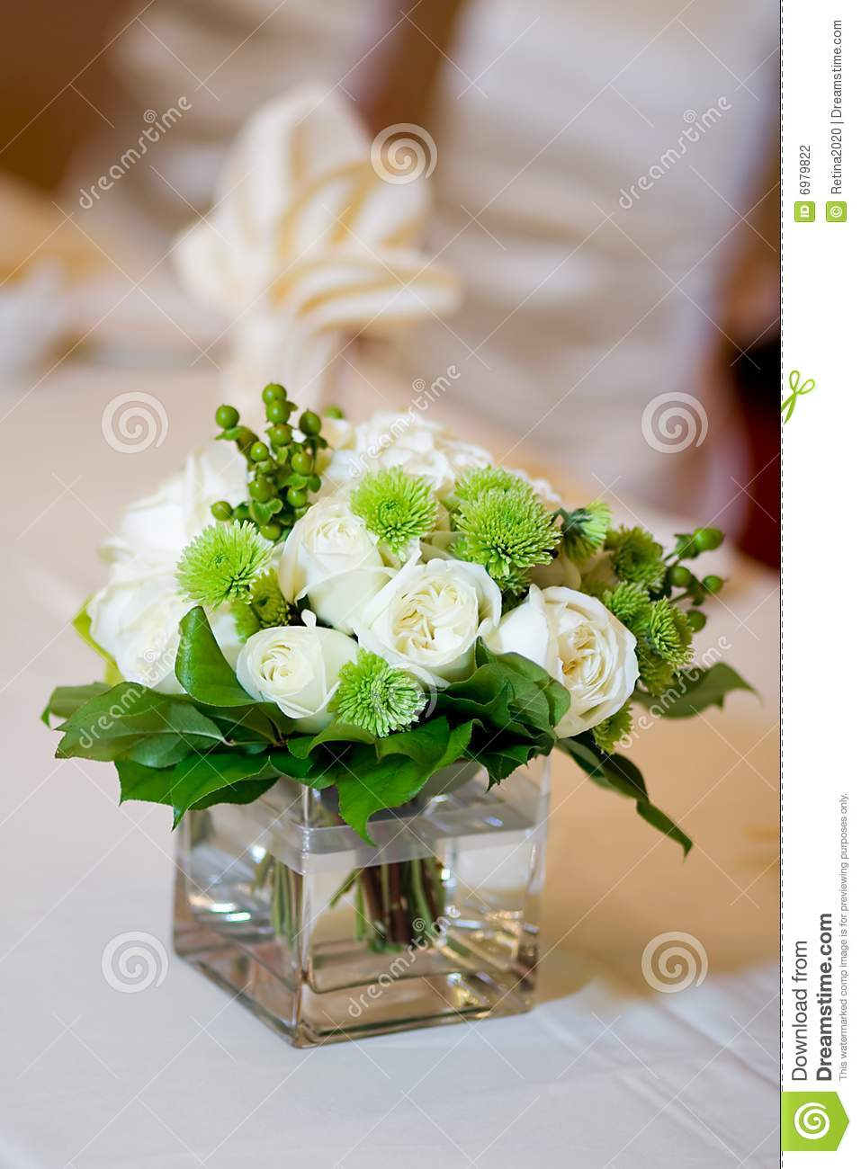 Wedding Head Table Centerpiece Closeup Stock Photo Image