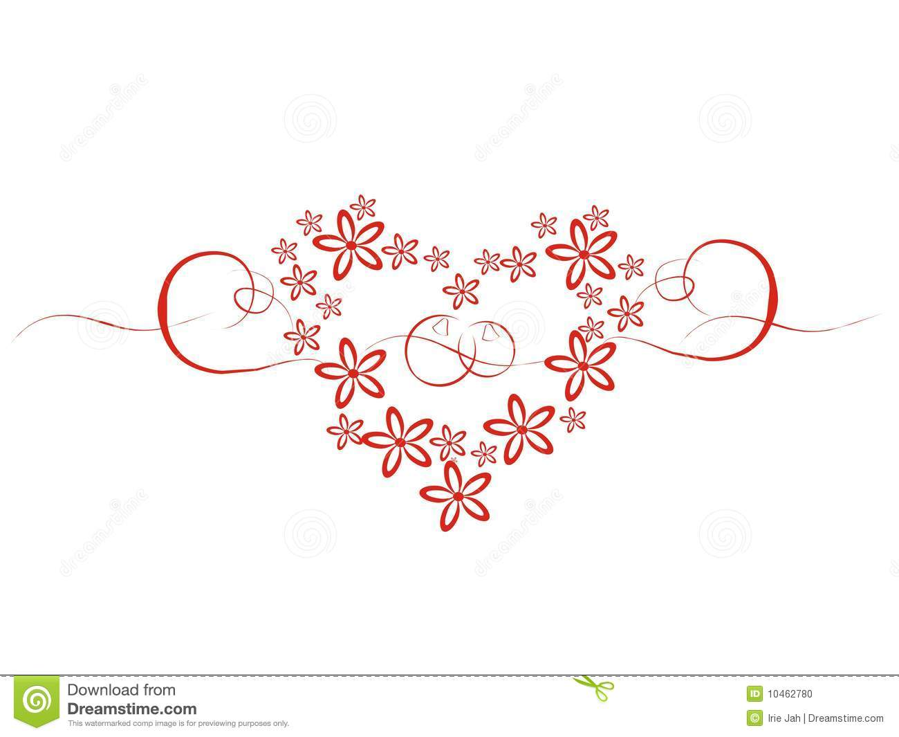 wedding heart with flowers stock photo image 10462780