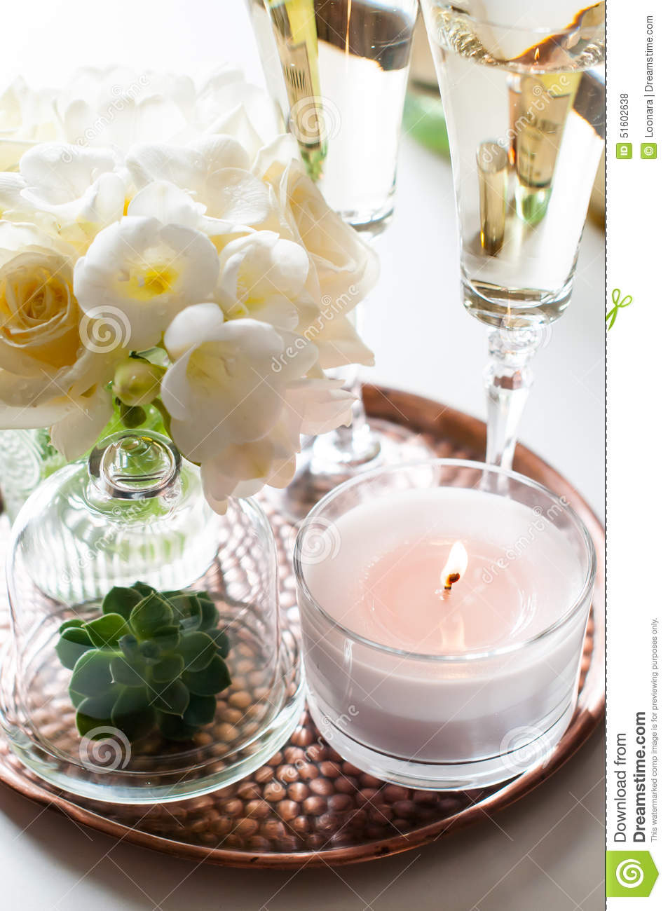 Wedding home decor stock photo image 51602638 for Aana decoration decorative tray