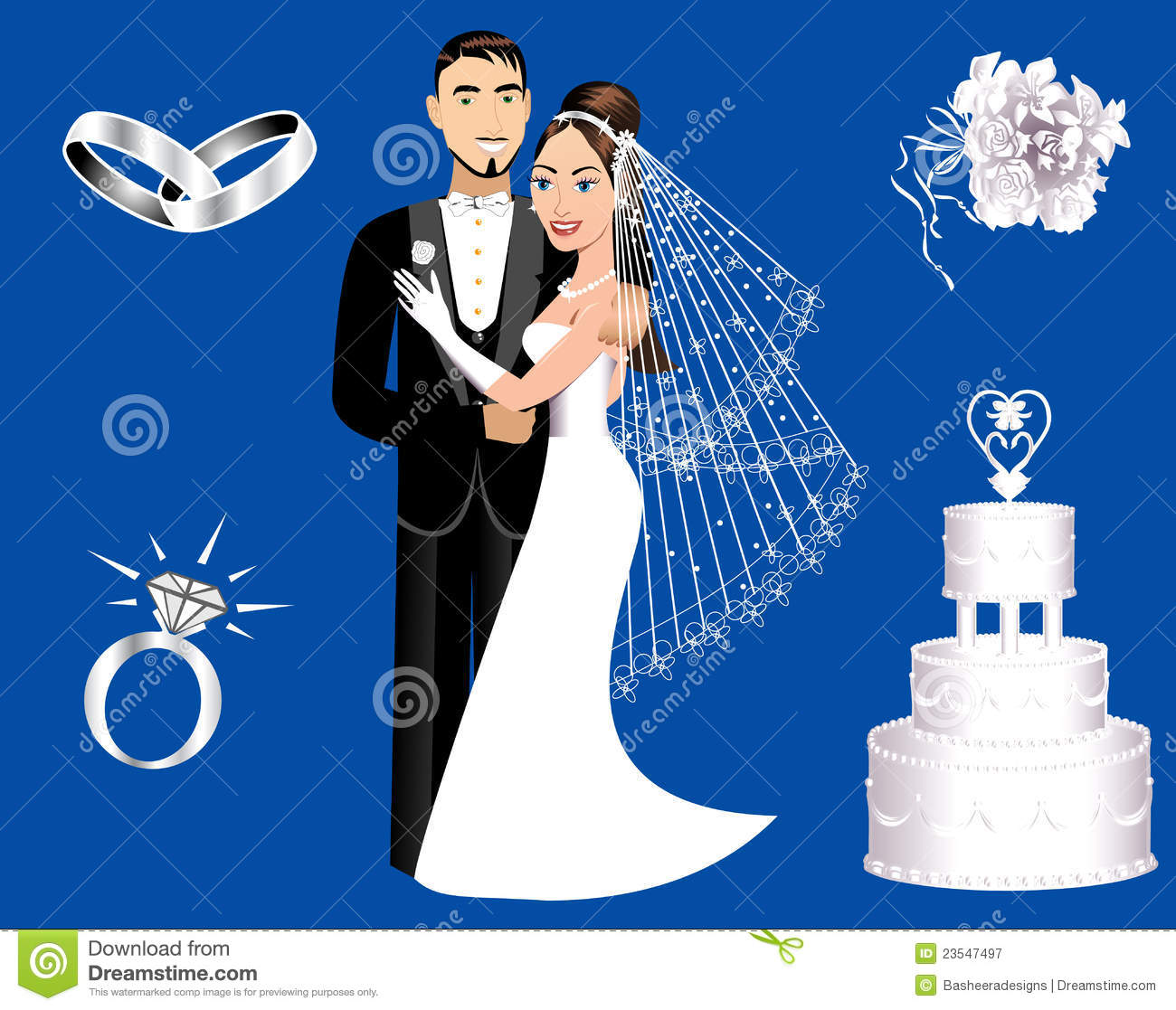 Wedding Icons Royalty Free Stock Photography - Image: 23547497