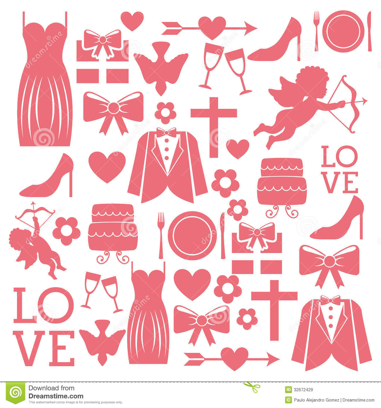 Wedding Icons Royalty Free Stock Images - Image: 32672429: www.dreamstime.com/royalty-free-stock-images-wedding-icons-over...