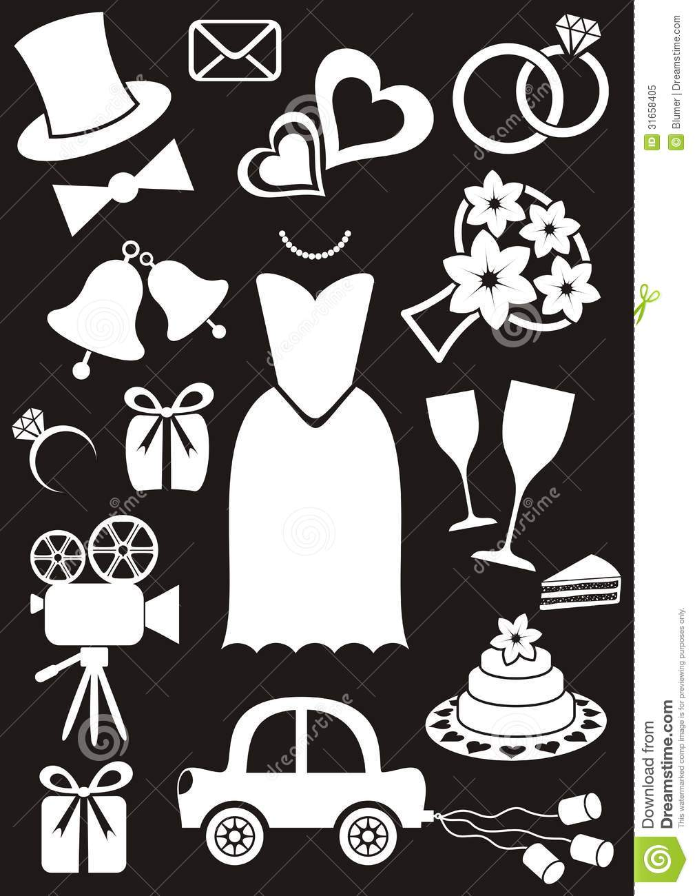 Wedding Icons Stock Vector Image Of Groom Card Ceremony