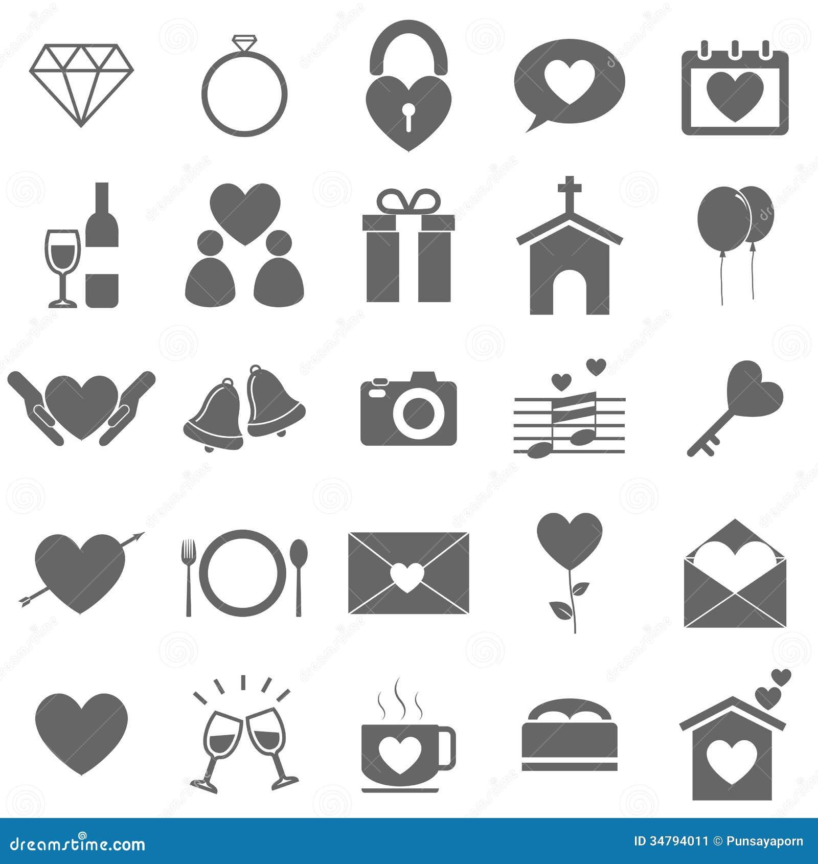 Wedding Icons On White Background Stock Image - Image: 34794011: https://www.dreamstime.com/stock-image-wedding-icons-white...
