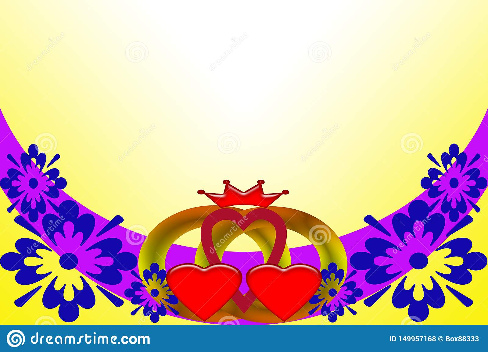 Wedding invitation. Abstract image with multicolored elements.