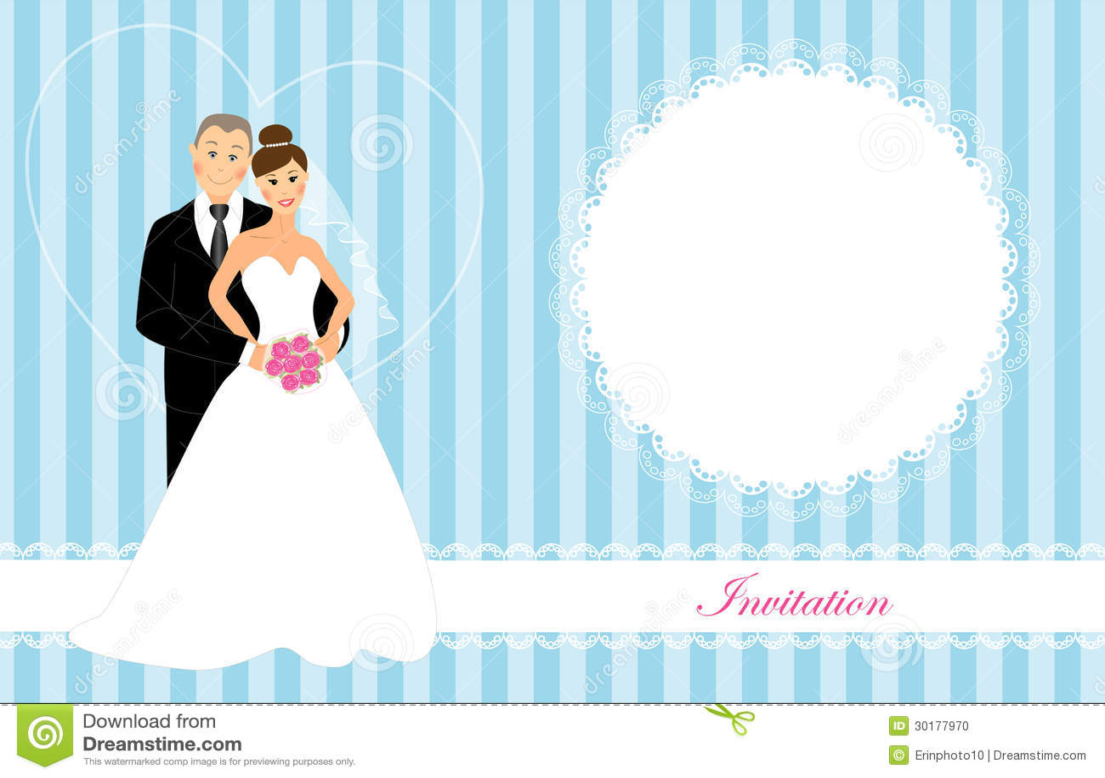 Blue Wedding Invitation Background: Wedding Invitation 4 Stock Illustration. Illustration Of