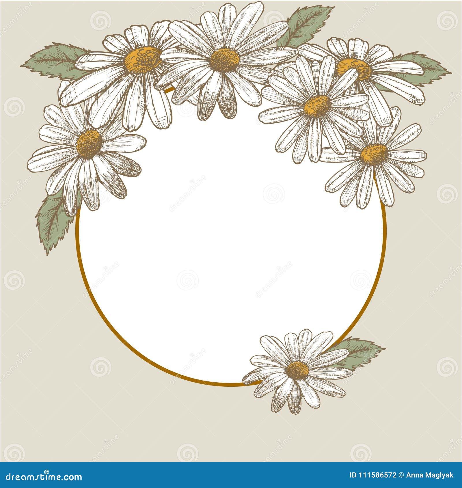 Wedding Invitation. Beautiful Blooming Flowers. Vintage Greeting ...