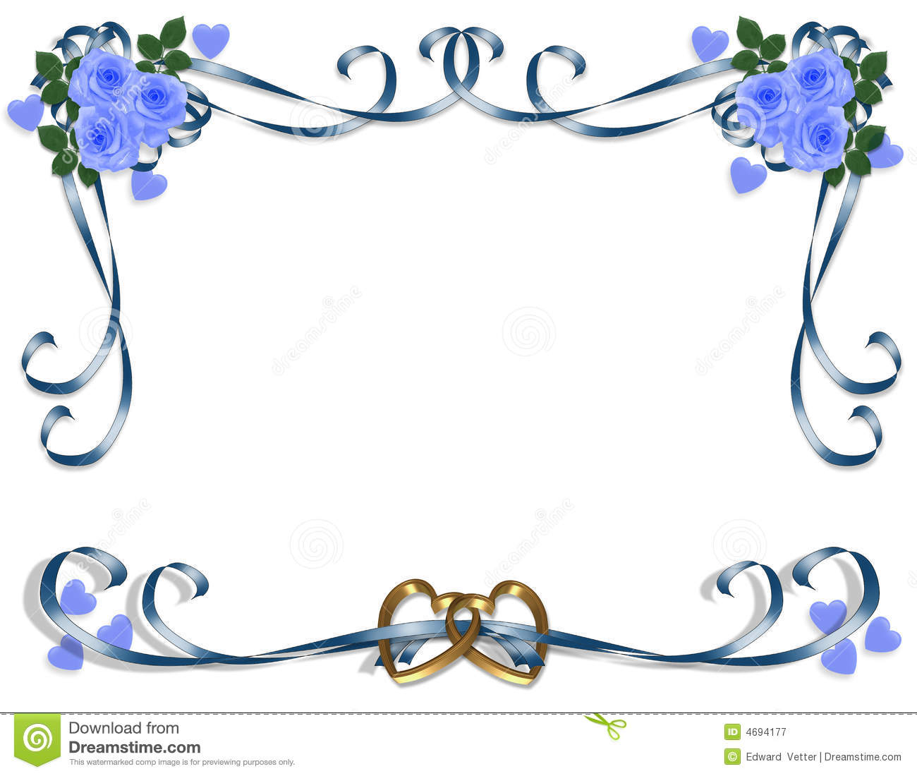 Wedding Invitation Blue Roses Royalty Free Stock Photography - Image ...