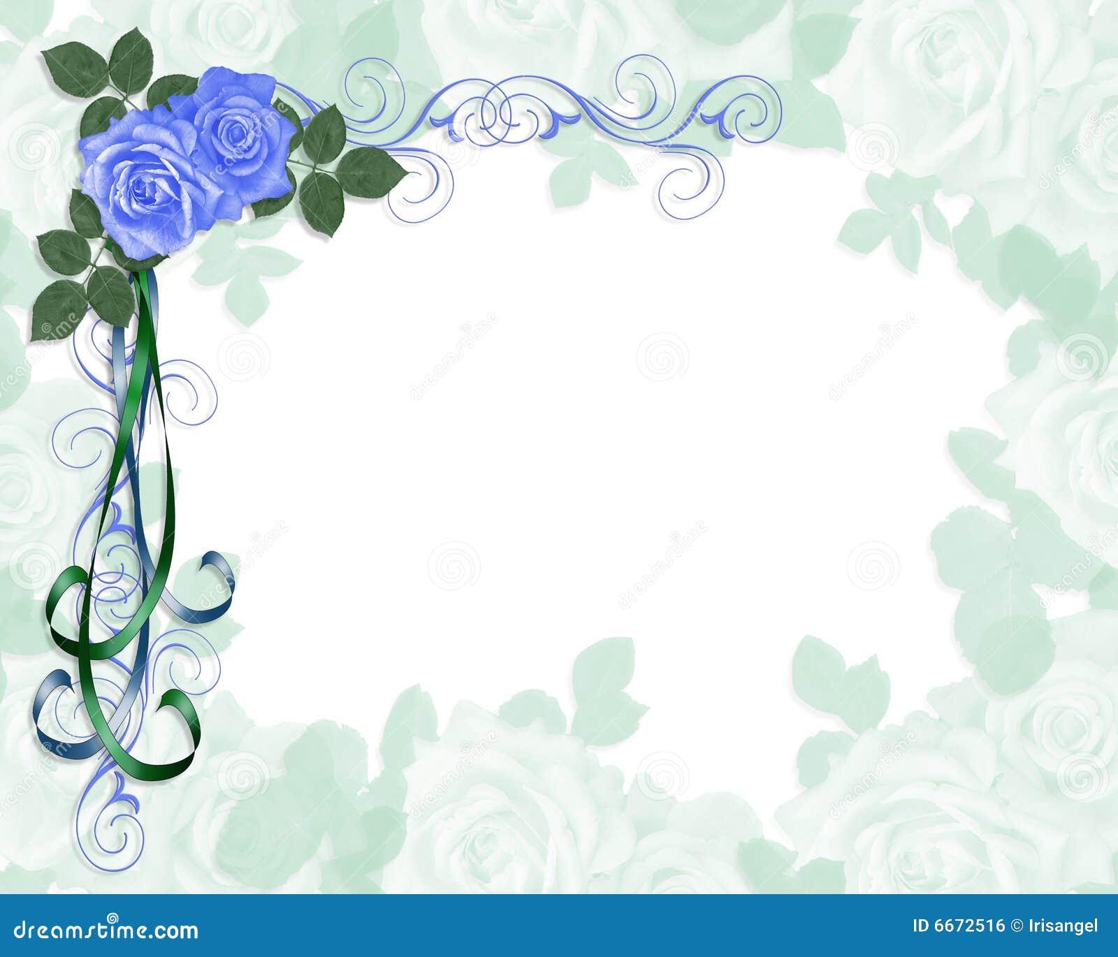 Wedding Invitation Blue Roses Corner Royalty Free Stock Image - Image ...