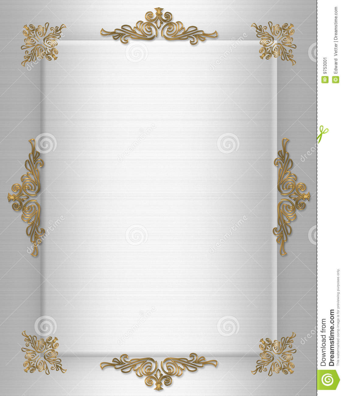 Wedding Invite Borders: Wedding Invitation Border Stock Image