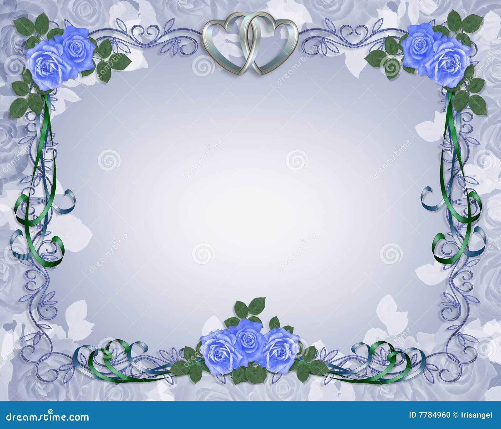 Wedding Invitation Border Blue Stock Illustration - Image ...
