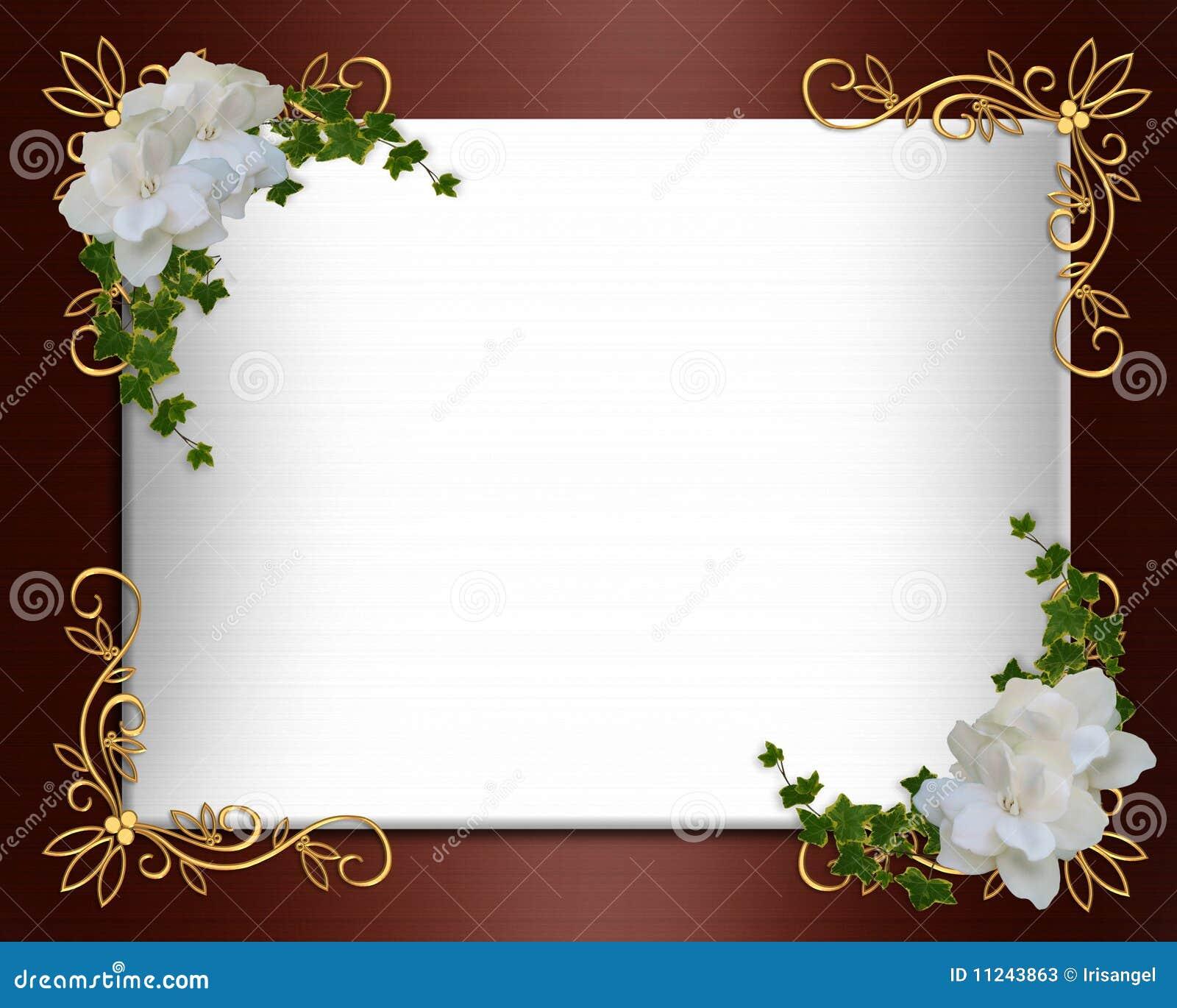gold blank invitation template