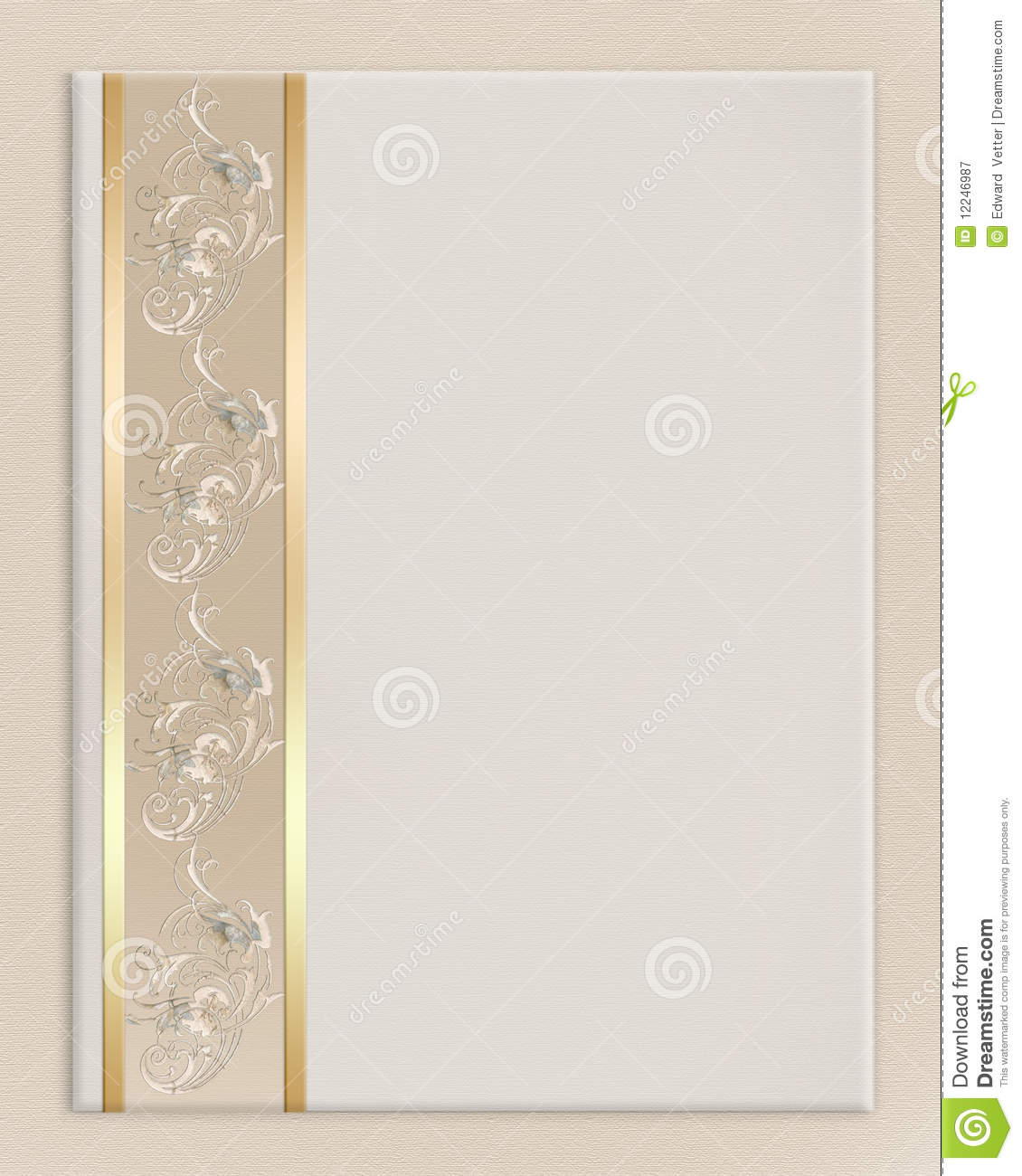 ... border on off white canvas background with decorative gold, floral