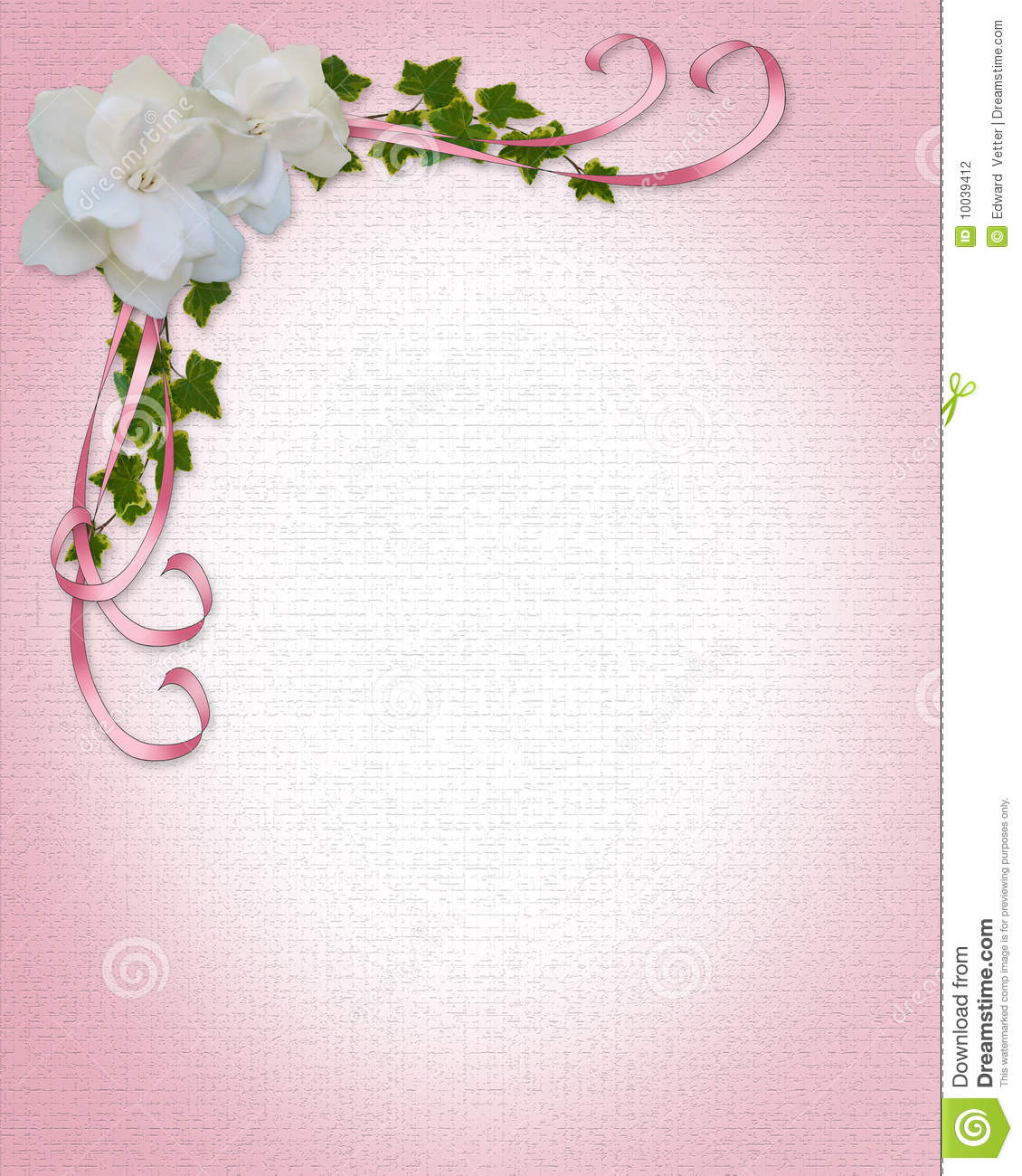Wedding Invitation Border Gardenias Stock Illustration ...