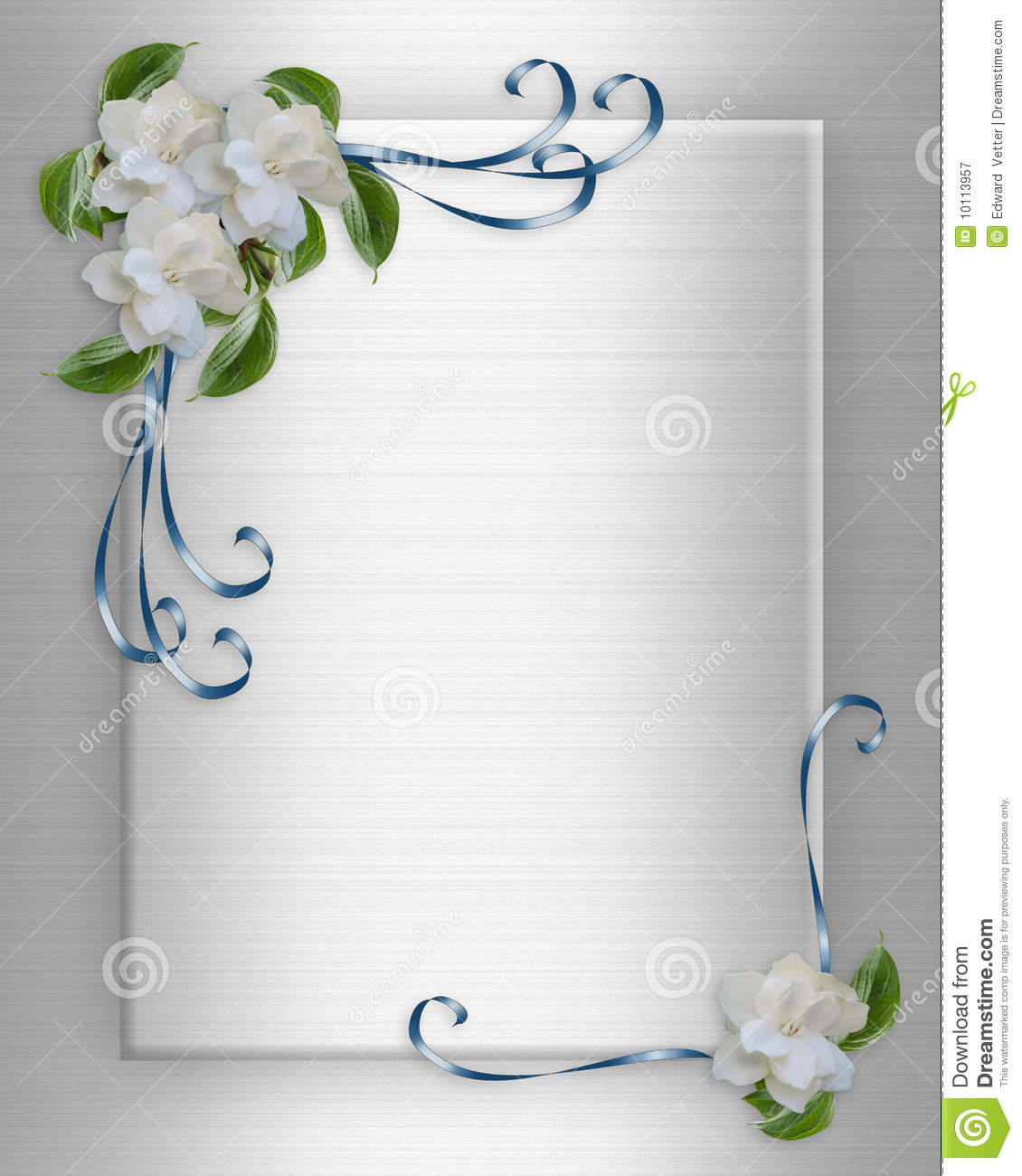 Wedding Invitation Border Gardenias Royalty Free Stock