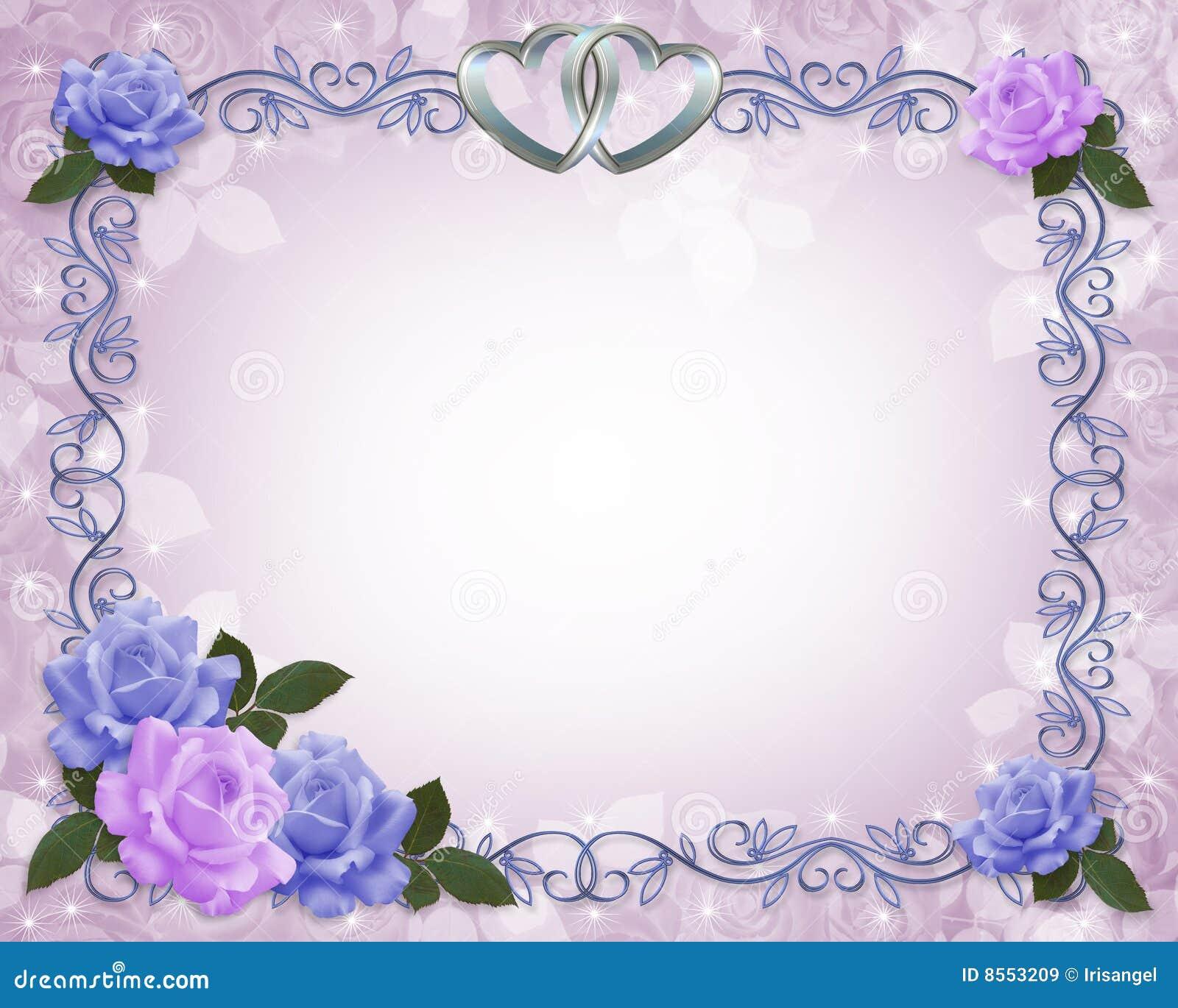 Wedding Invitation Border Lavender Roses Stock Illustration ...