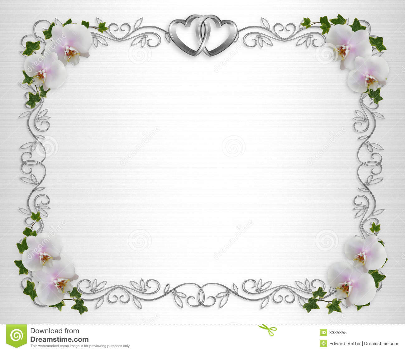 wedding invitation border orchids ivy stock illustration image 8335855. Black Bedroom Furniture Sets. Home Design Ideas