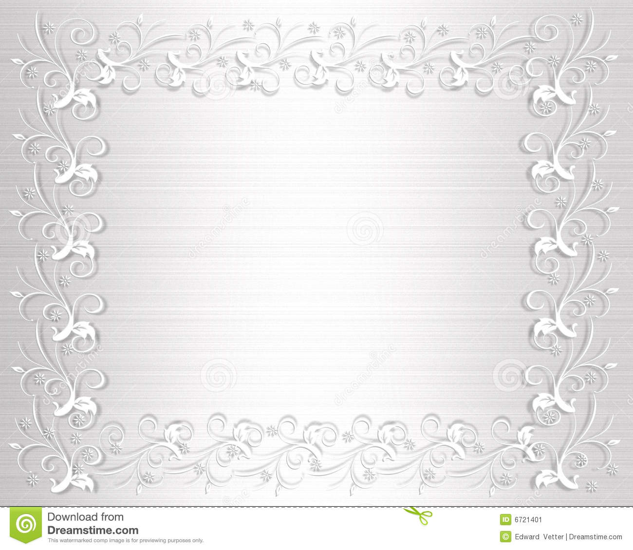 Photo Page: Wedding Invitation Border White Satin Stock Illustration