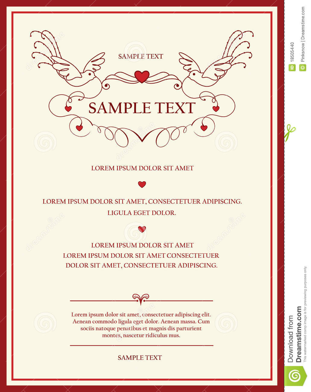 Wedding invitation card stock vector. Illustration of emblem - 18505440