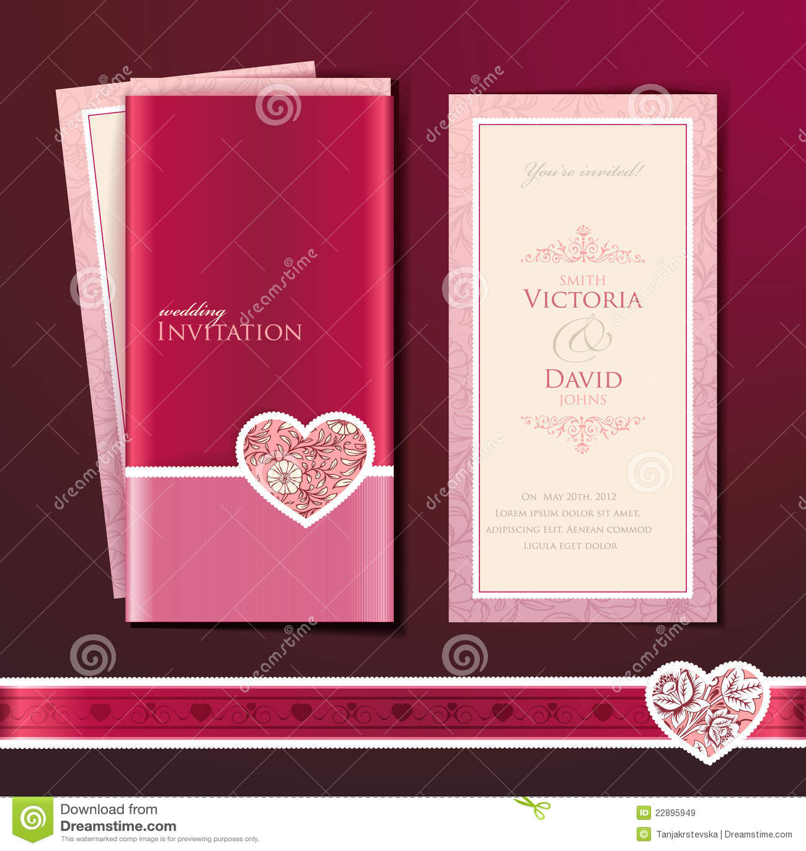 Wedding invitation card stock vector. Illustration of male - 22895949