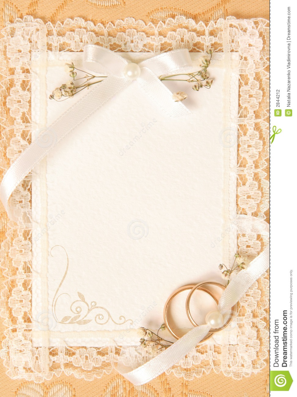 Wedding Invitation Card Stock Photo Image Of Floral