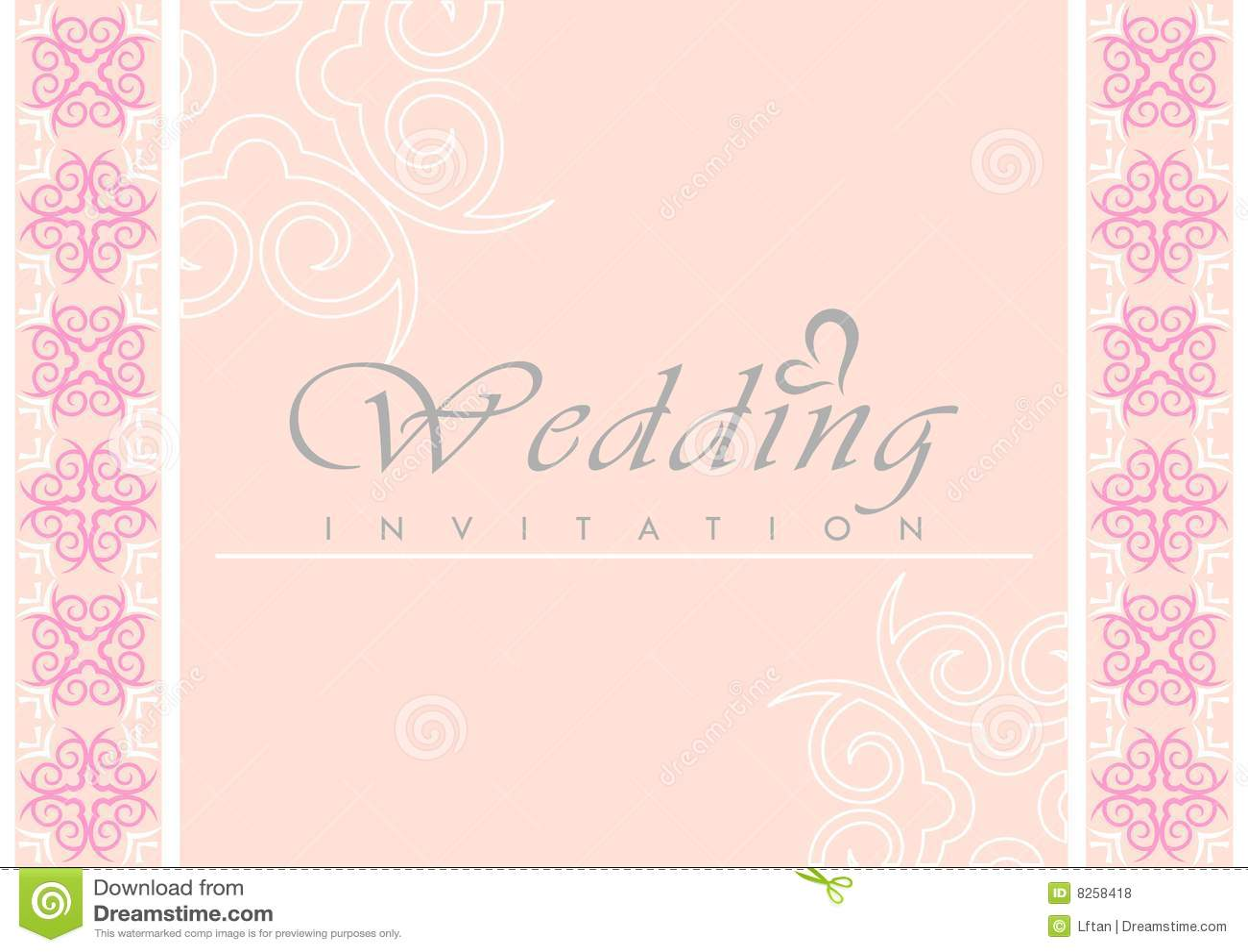 Card Curve Invitation Pattern Wedding ...