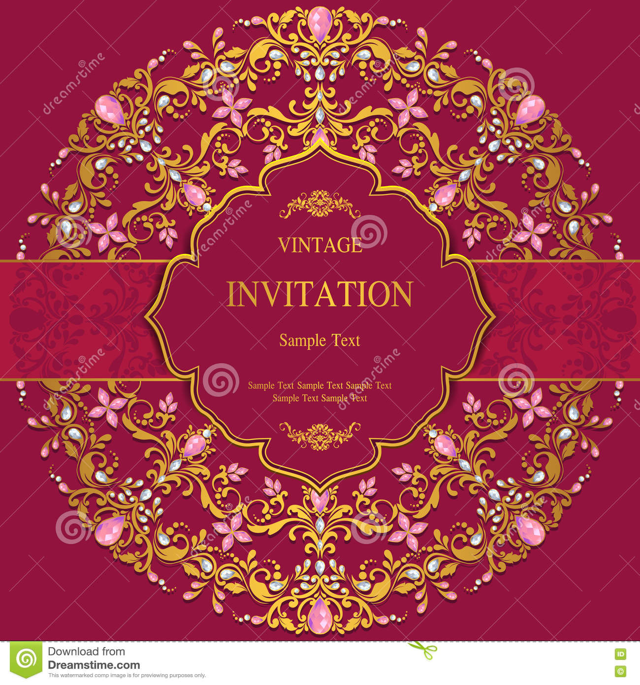 Wedding Invitation Or Card With Abstract Background. Stock Photo ...