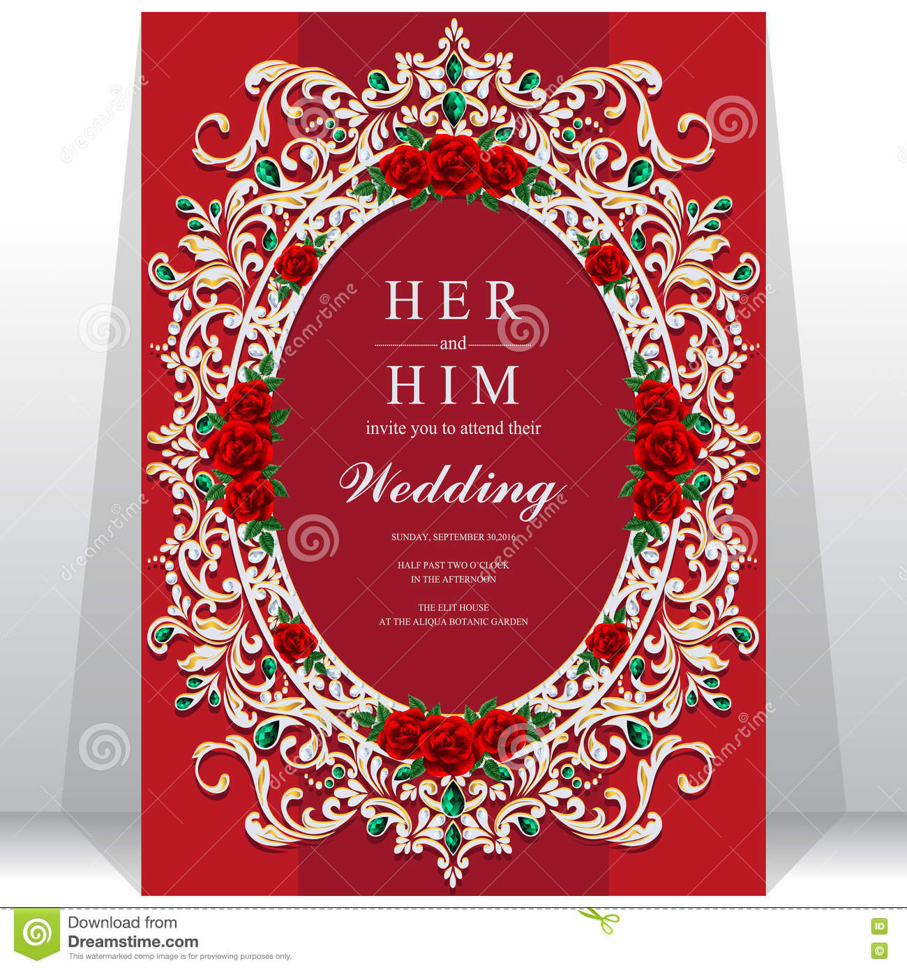Wedding Invitation Or Card With Abstract Background. Stock Vector ...