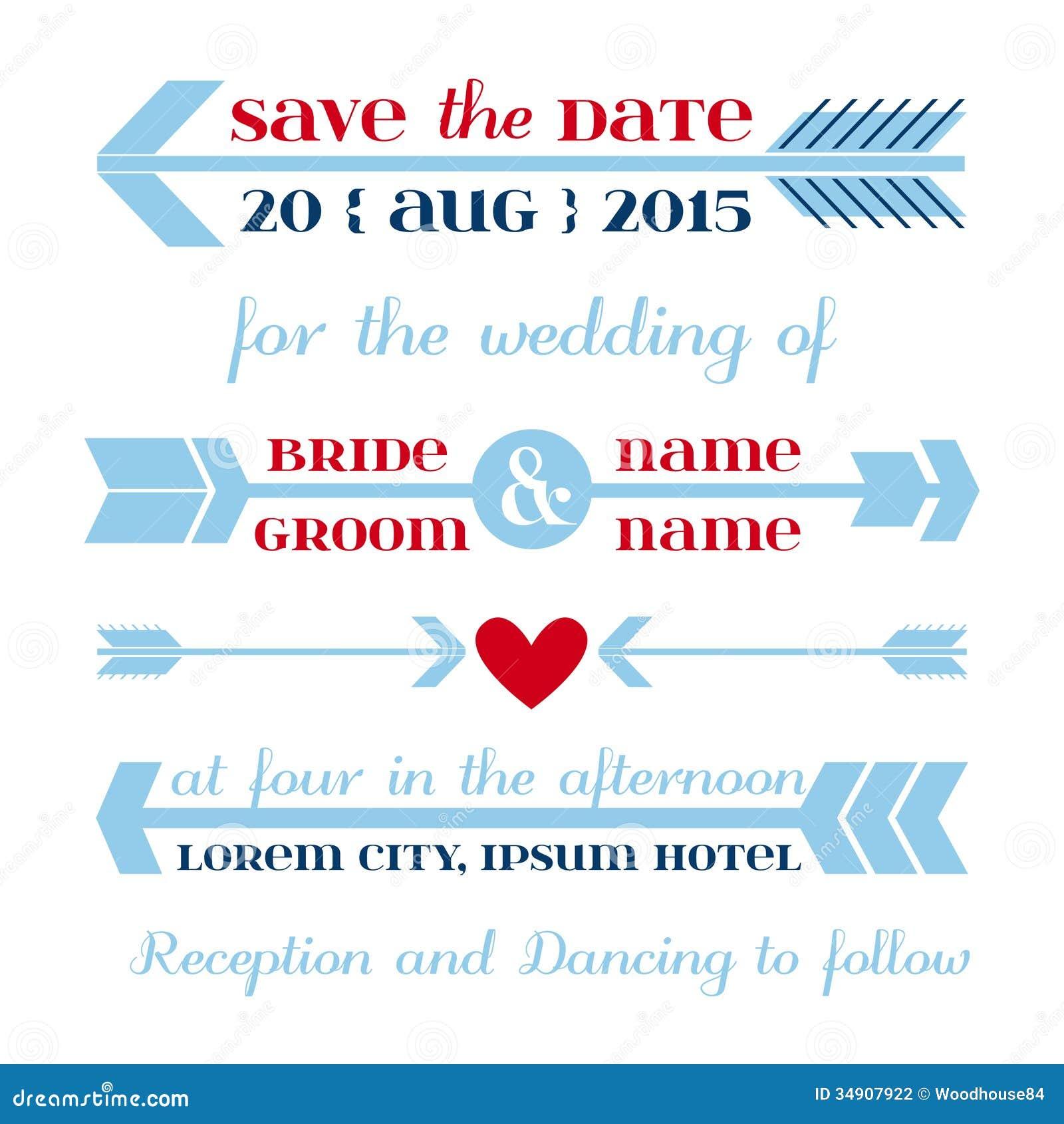 Wedding Invitation Card stock vector Illustration of element 34907922