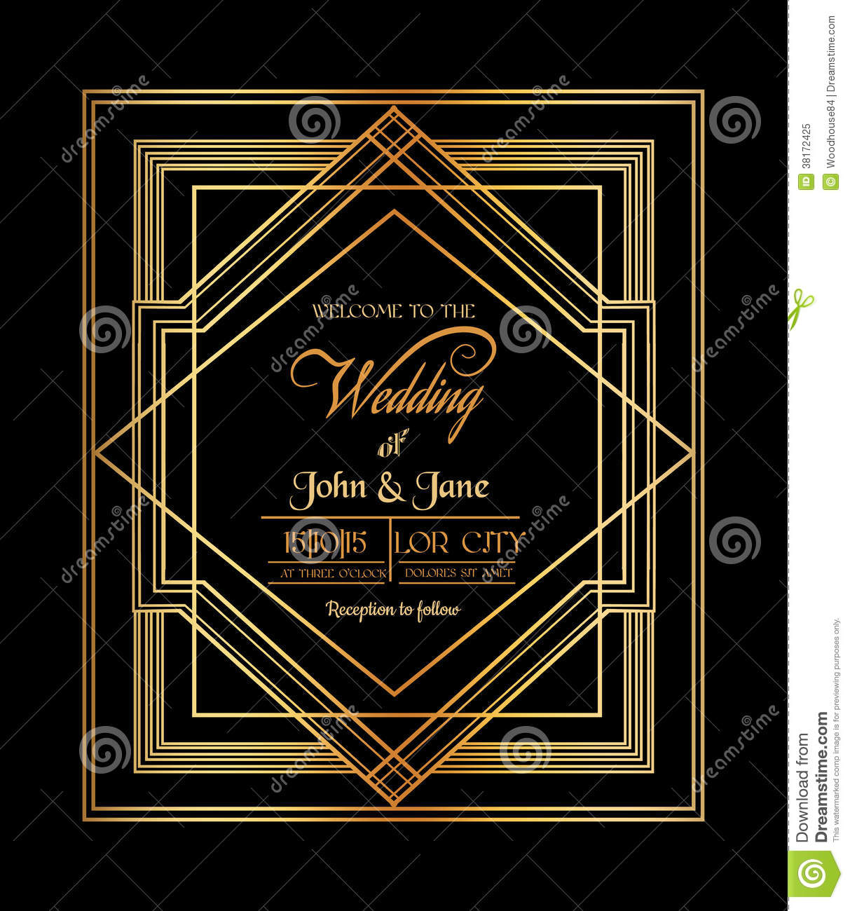 wedding invitation card stock vector illustration of love 38172425