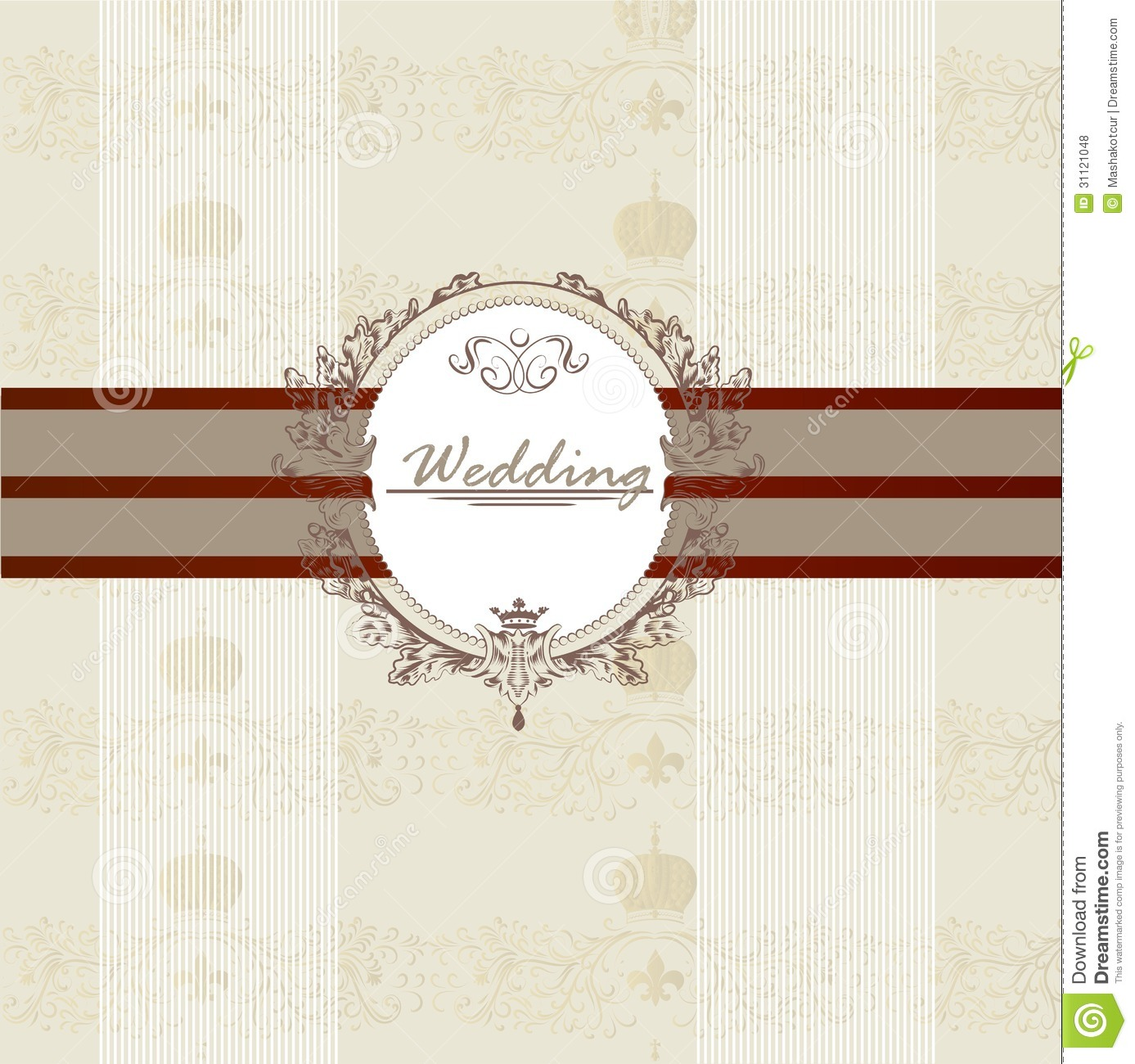 Wedding invitation card for design stock vector illustration of wedding invitation card for design stopboris Choice Image