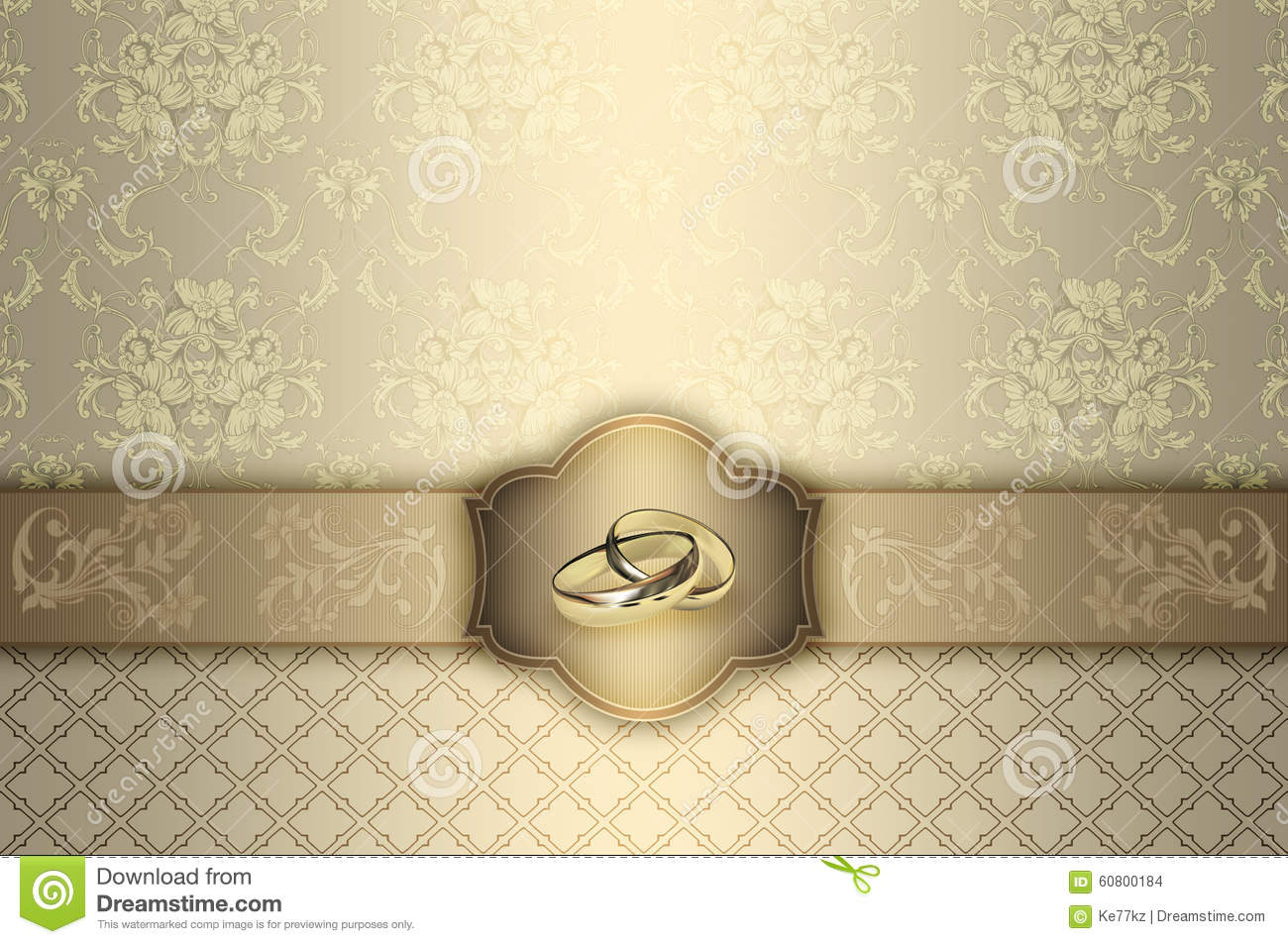 Wedding Invitation Card Design Stock Illustration Image