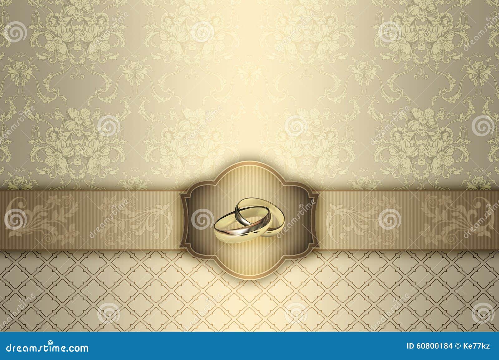 Wedding Invitation Card Design. Stock Illustration - Image ...