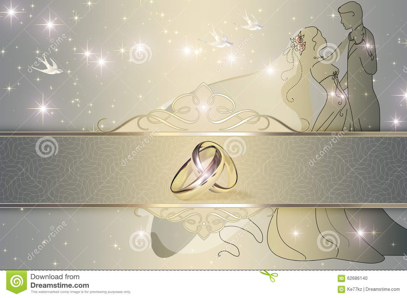 Wedding Invitation Card Design. Stock Illustration ...
