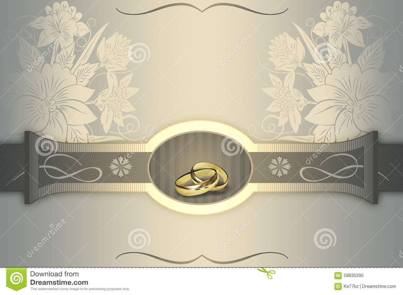 Wedding Invitation Card Design. Stock Illustration - Illustration of ...