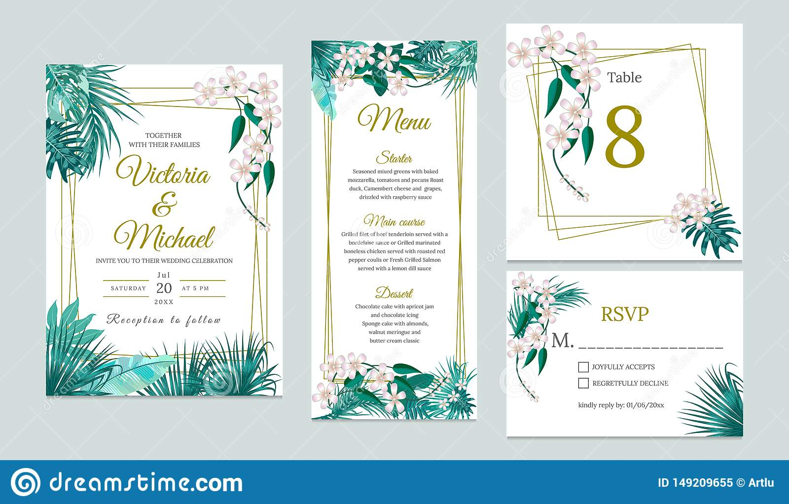 Wedding Invitation Card Design, Floral Invite Stock Vector - Illustration  of background, invitation: 149209655