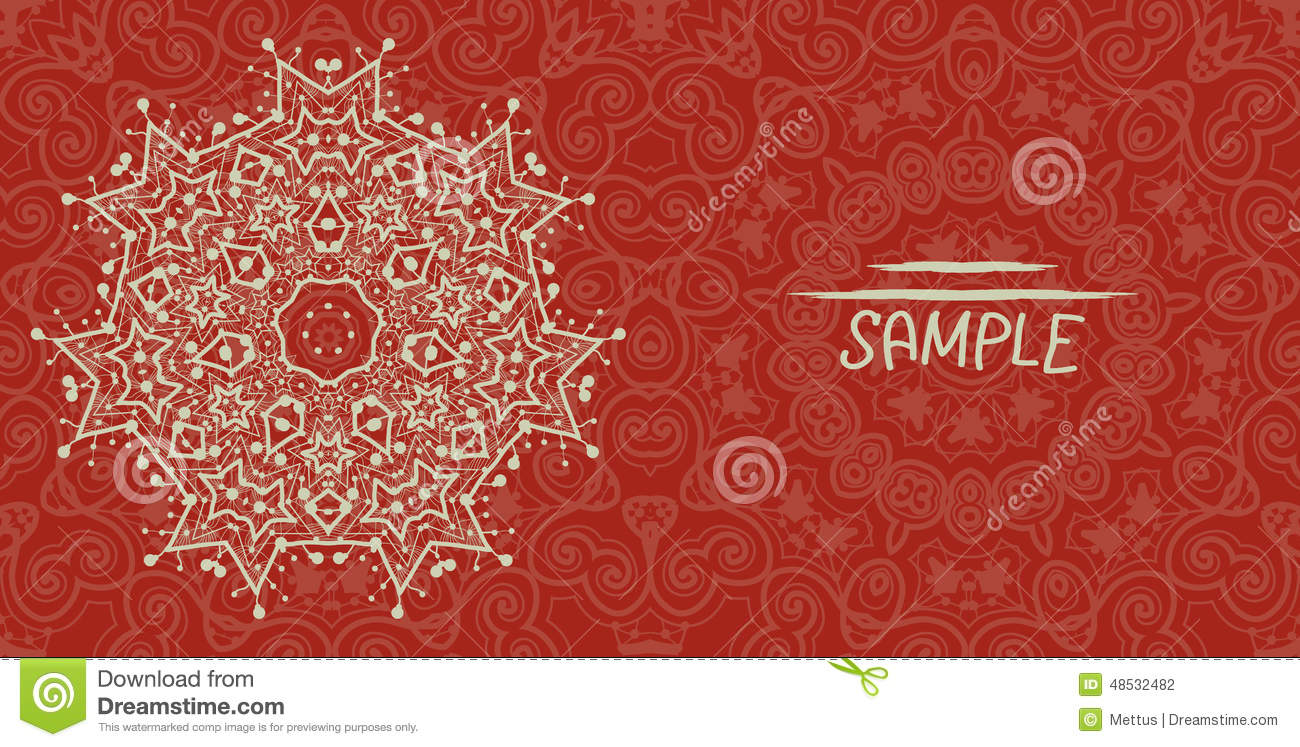 Wedding Or Invitation Card Design Made Of Tribal Stock ...