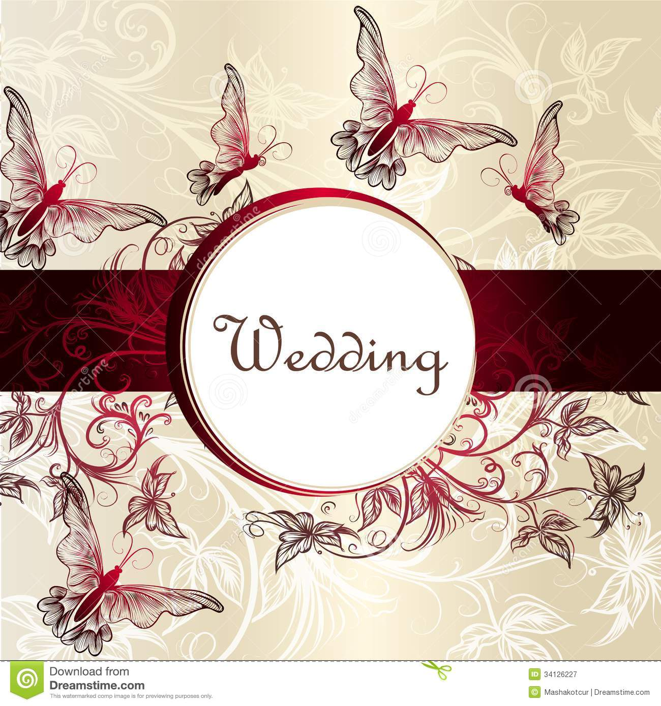 Wedding Invitation Card For Design Stock Vector Illustration of