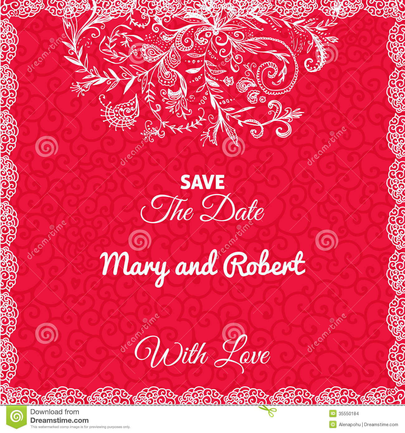 Modern wedding invitations for you: Red card wedding invitations